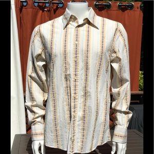 Ben Sherman boho button down long sleeve L stripe